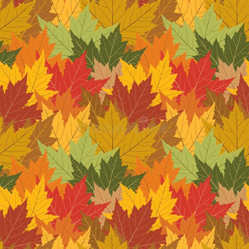 Maple leaf seamless background royalty free illustration