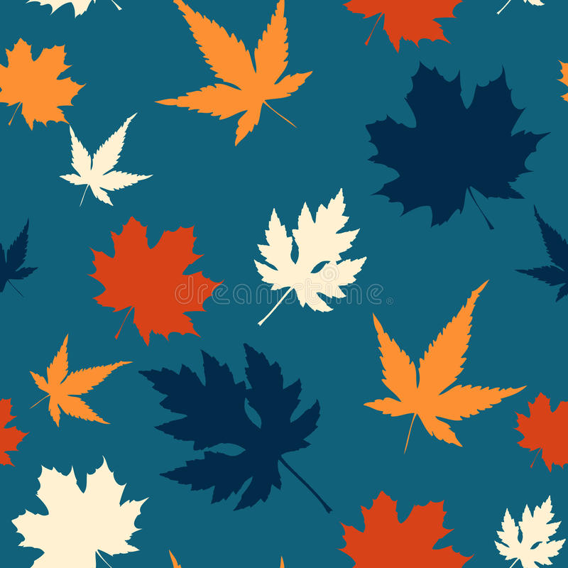 Maple leaf seamless pattern royalty free stock photography