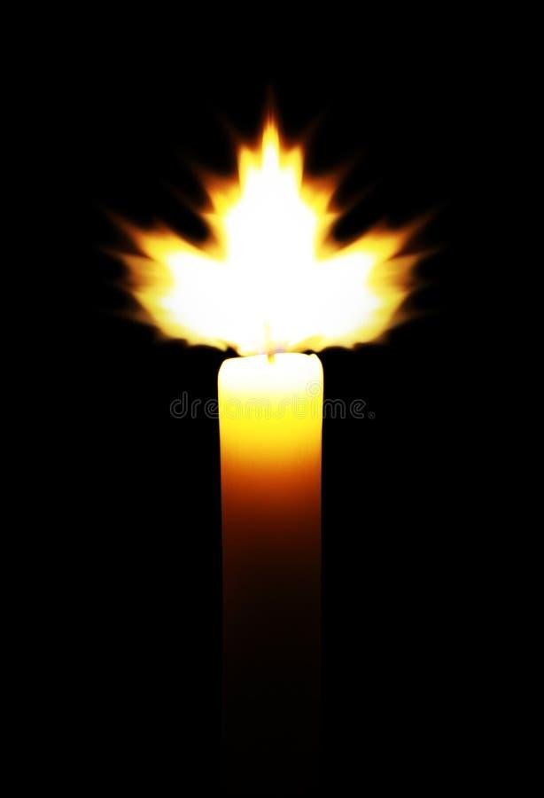Maple leaf-shaped flame royalty free stock image