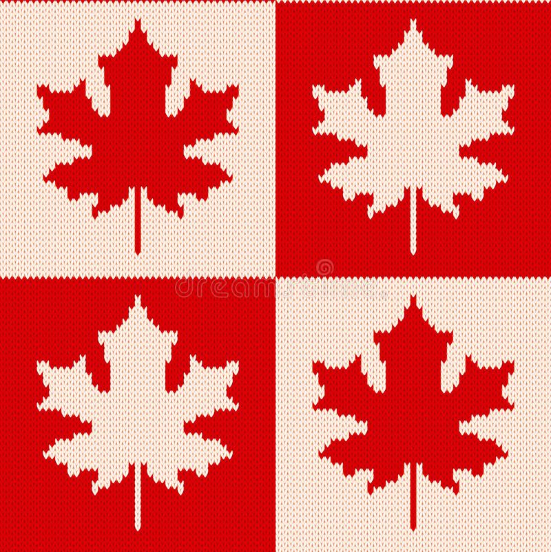 Maple leaves on checkered background seamless knitting pattern download maple leaves on checkered background seamless knitting pattern stock vector illustration of backdrop dt1010fo