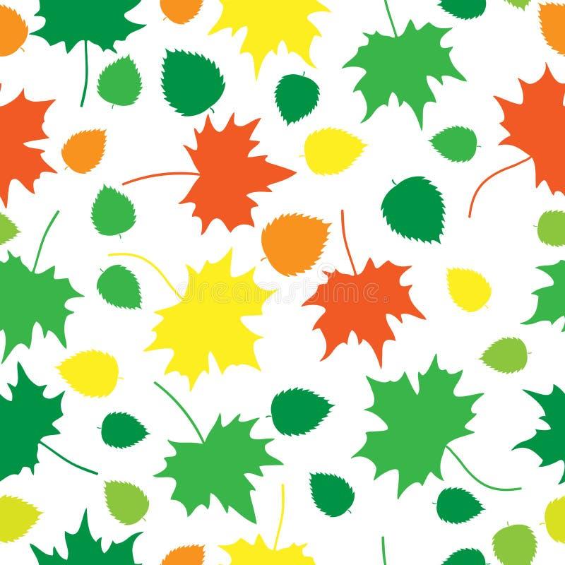 Maple_leaves_texture_white stock de ilustración