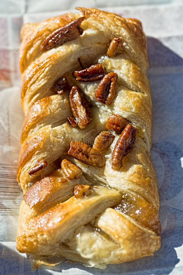 Maple pecan pastry royalty free stock image