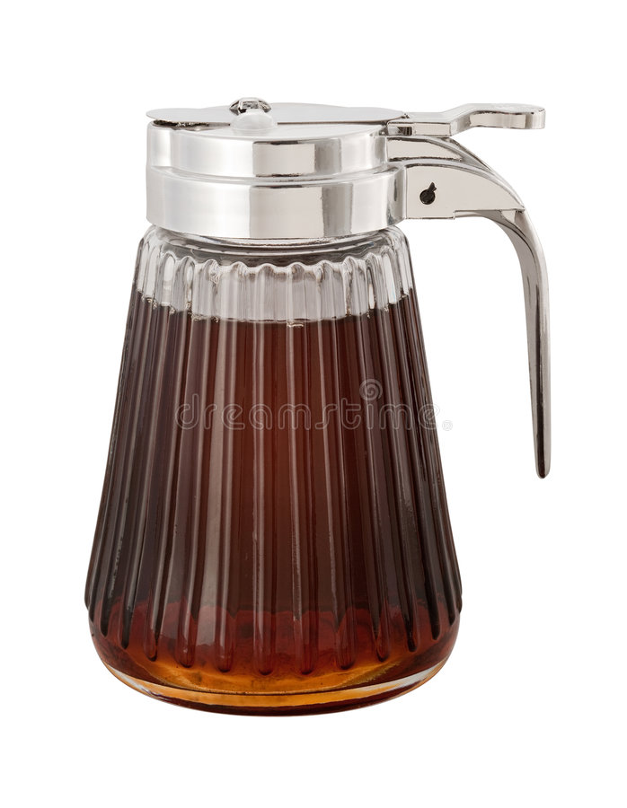 Maple Syrup (with clipping path). Maple Syrup and dispenser isolated with a clipping path. Isolation is on a transparent layer in the PNG format royalty free stock image