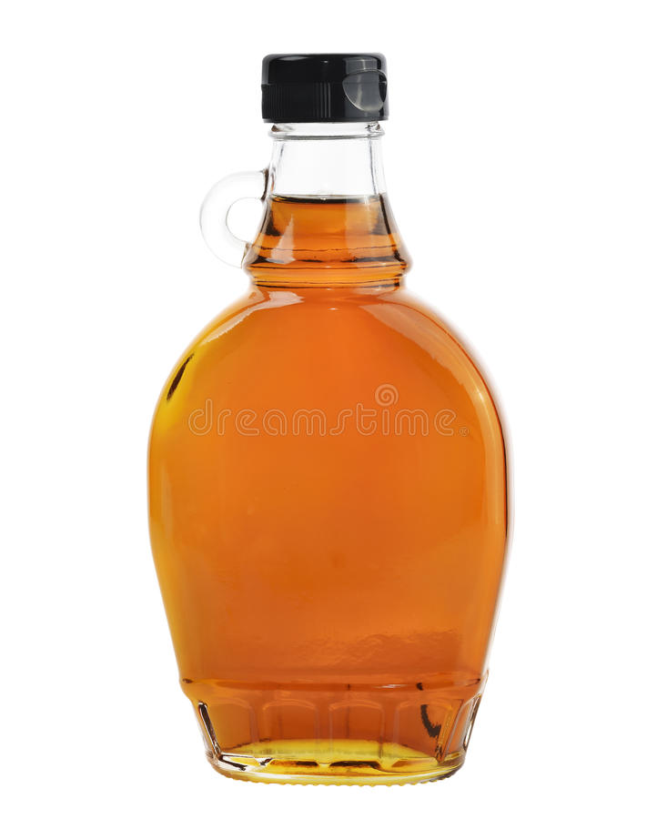 Maple Syrup Isolated On White Background. stock photos