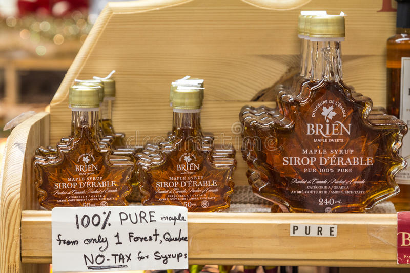 Maple Syrup on St Lawrence Market in Toronto, Ontario, Canada royalty free stock photos