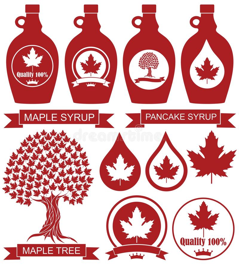 Maple Syrup. Vector illustration (EPS 10 royalty free illustration