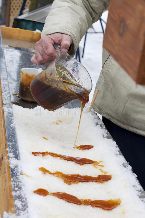 Download Maple Taffy on Snow stock photo. Image of made, outdoors - 18275376