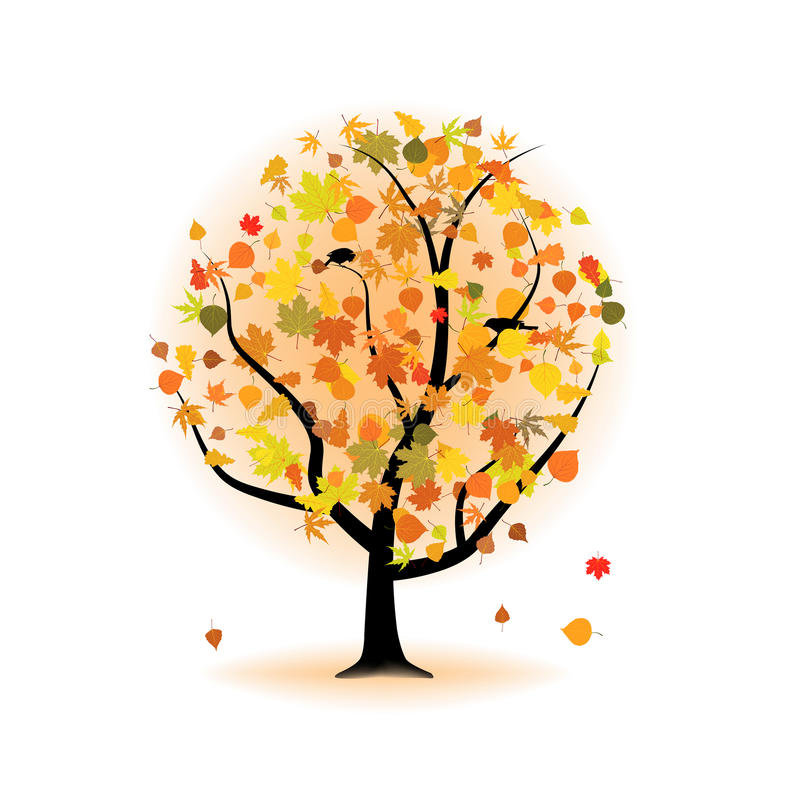 Download Maple Tree, Autumn Leaf Fall. Stock Vector - Image: 16315593