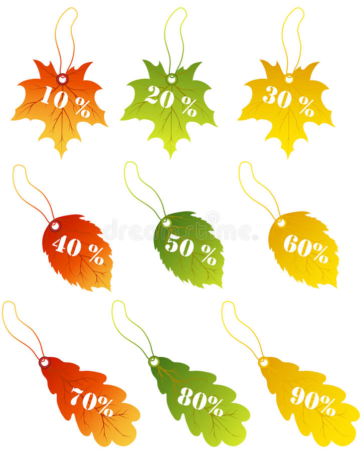 Download Maples leaves sale label stock vector. Image of botany - 26068625