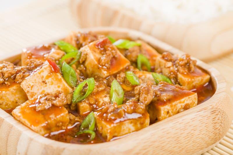 Mapo Tofu royaltyfria bilder