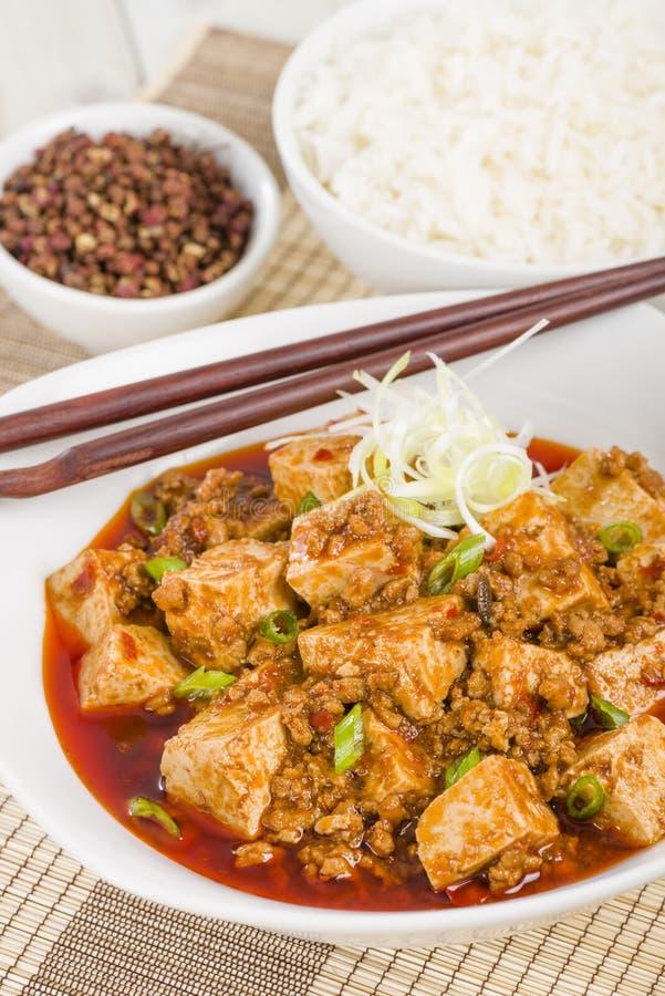 Mapo Tofu arkivbild