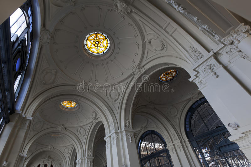Download Mapocho Station Ceiling, Santiago De Chile Stock Photo - Image of shine, rail: 21520406