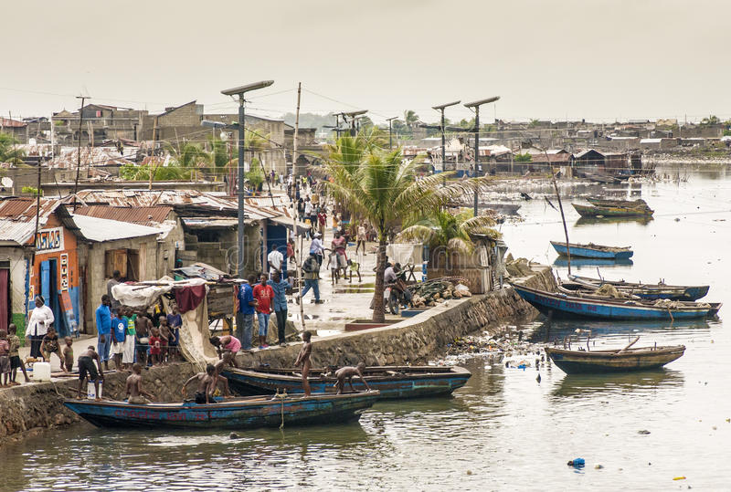 Mapourivier, Noord-Haïti royalty-vrije stock afbeelding