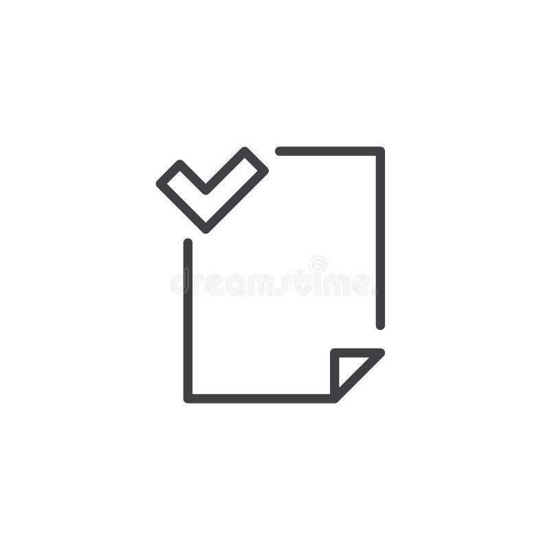 Mapp accepterad översiktssymbol royaltyfri illustrationer