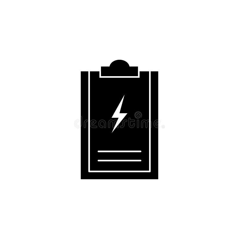 Mapp blixtsymbol på vit bakgrund Kan användas för rengöringsduken, logoen, den mobila appen, UI UX stock illustrationer
