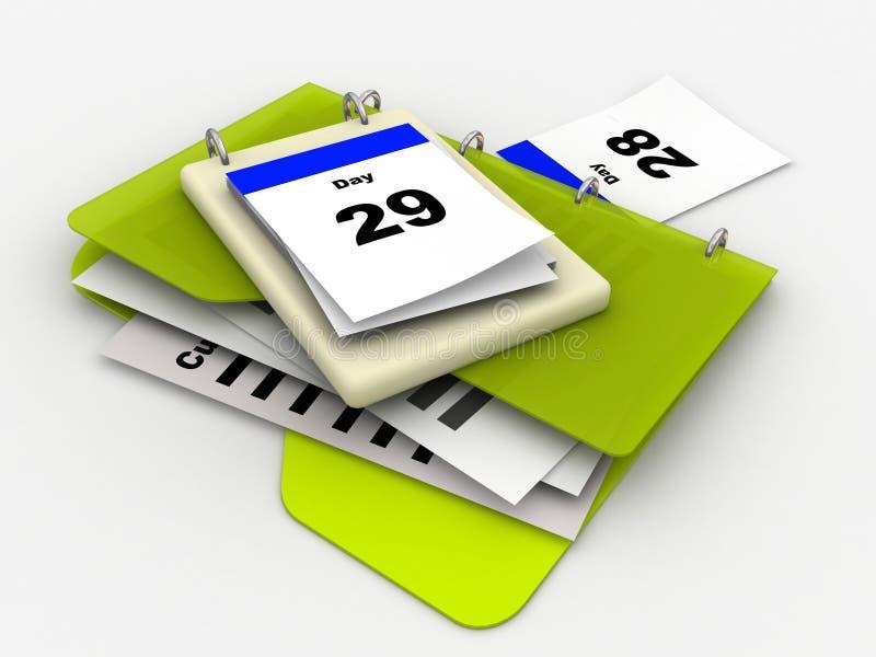 mapp för kalenderdag vektor illustrationer