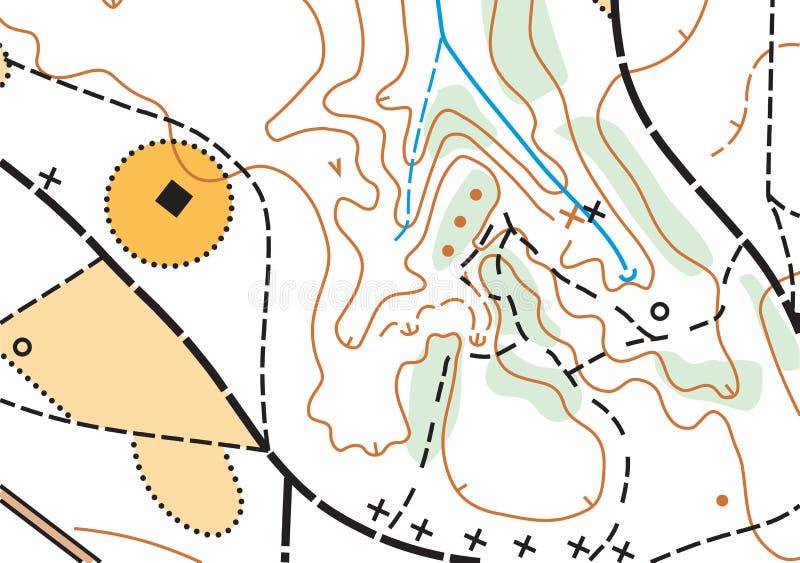 Mappa altamente dettagliata topografica di vettore astratto di colore immagine stock