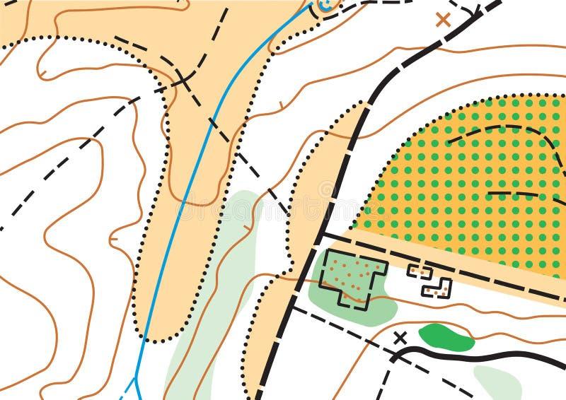 Mappa altamente dettagliata topografica di vettore astratto di colore immagini stock