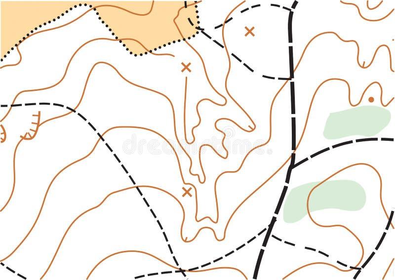Mappa altamente dettagliata topografica di vettore astratto di colore fotografia stock libera da diritti