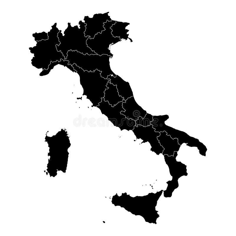 Mappa amministrativa in bianco e nero di vettore dell for Mappa mondo bianco e nero