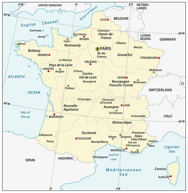 Cartina Francia Sud Dettagliata.Mappa Amministrativa Della Francia Illustrazione Vettoriale Illustrazione Di Principale Parigi 47890389