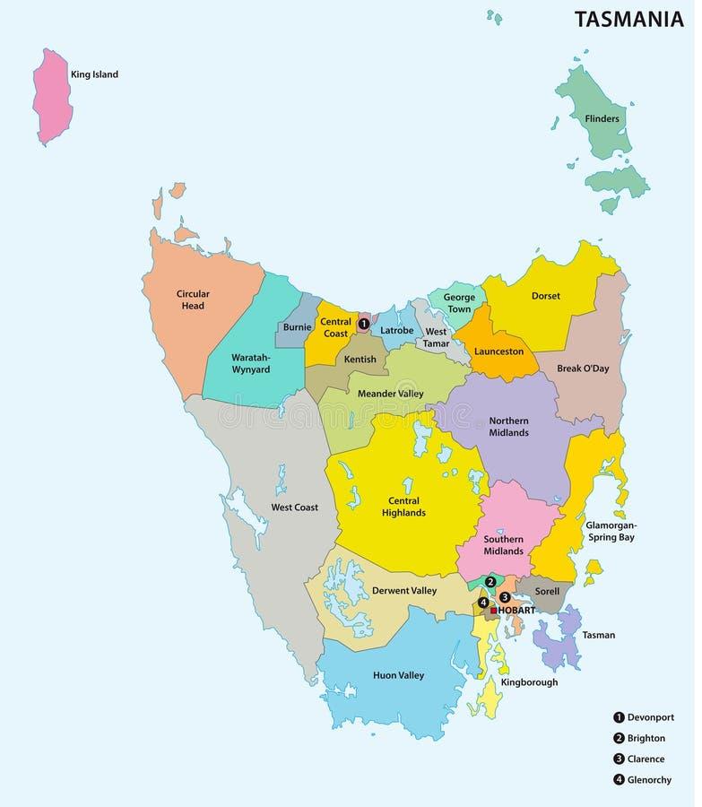 Cartina Australia Politica.Mappa Politica Dell Australia Illustrazione Vettoriale