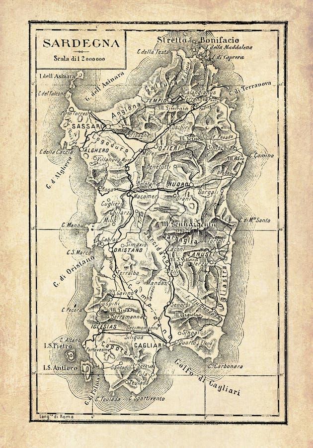 Cartina Satellitare Sardegna.Mappa Della Sardegna Illustrazione Vettoriale Illustrazione Di Isolato 94070197