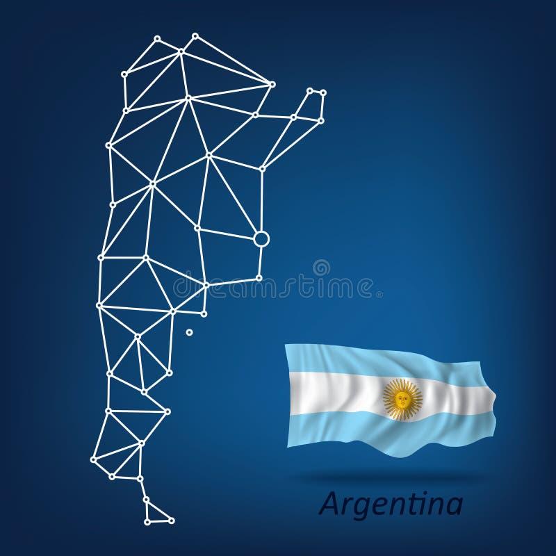 Mappa astratta dell'Argentina royalty illustrazione gratis
