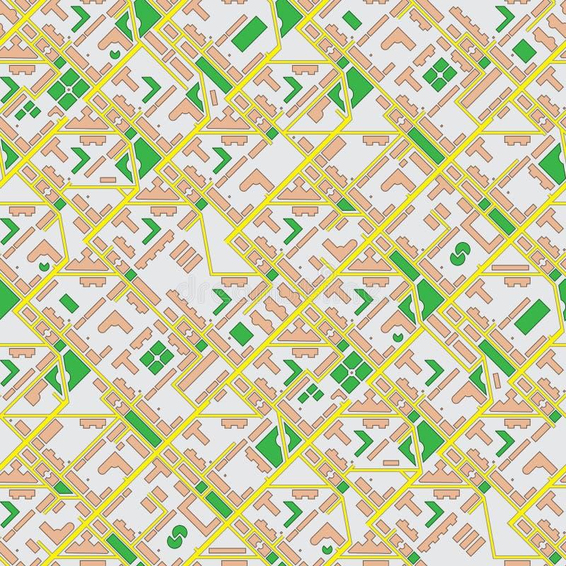 Mappa astratta della città - fondo senza cuciture di vettore royalty illustrazione gratis