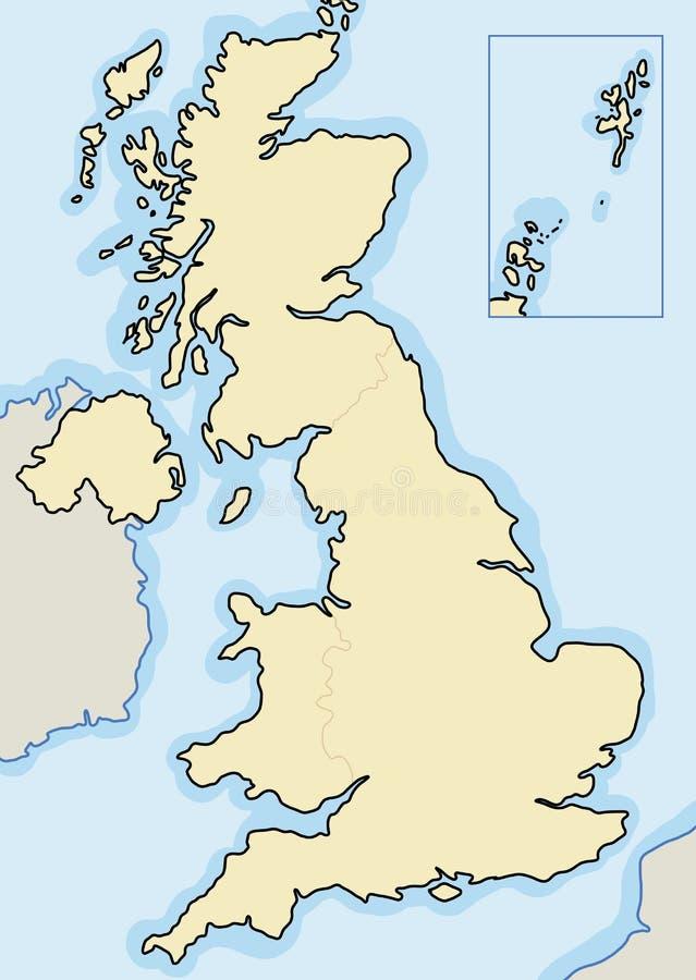 Mappa in bianco BRITANNICA royalty illustrazione gratis