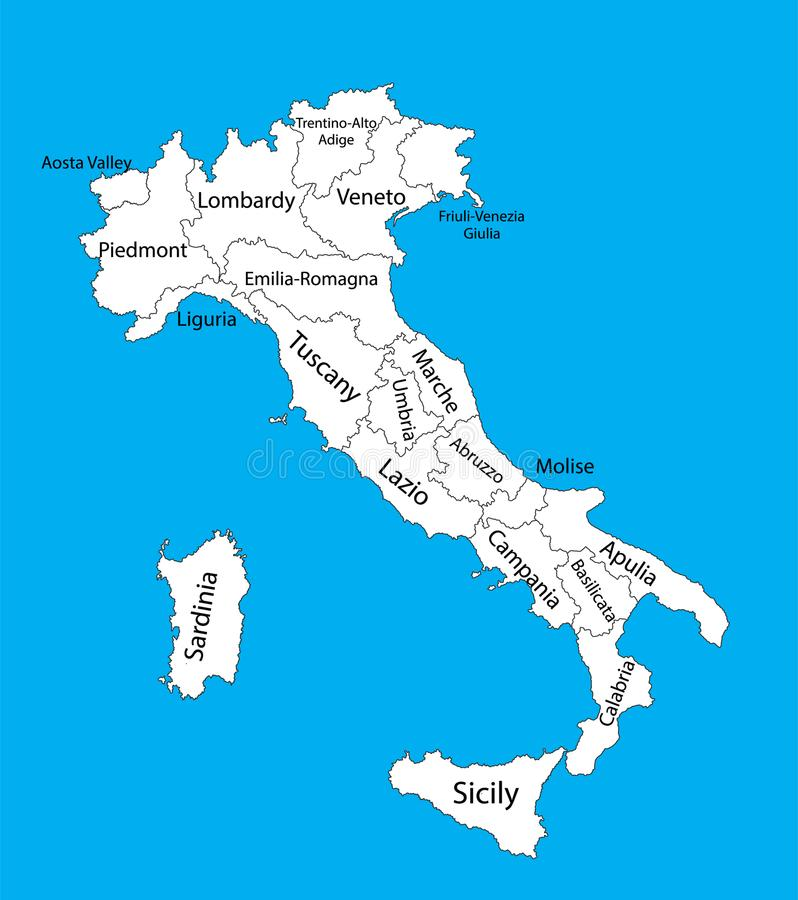 Cartina Italia Modificabile.Mappa In Bianco Editabile Di Vettore Dell Italia La Mappa Di Vettore Dell Italia Ha Isolato Su Fondo Illustrazione Vettoriale Illustrazione Di Narragansett Icona 113038319