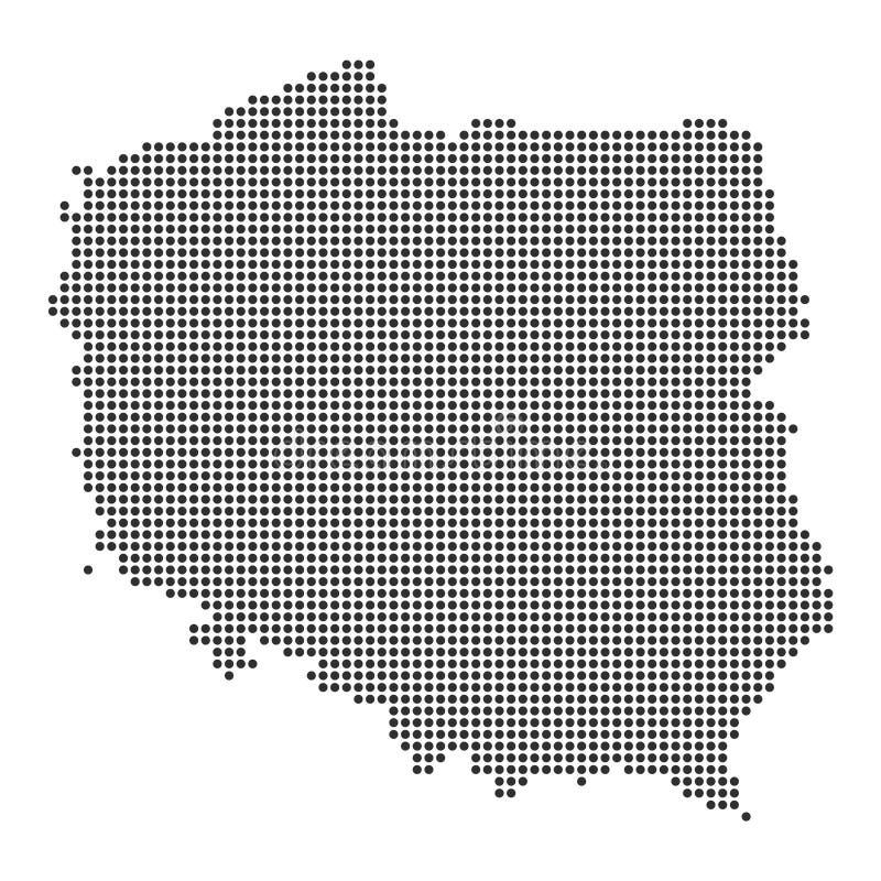 Mappa con il punto illustrazione vettoriale