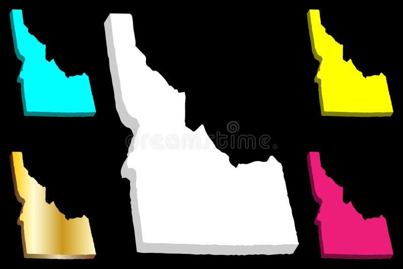 mappa 3D dell'Idaho royalty illustrazione gratis