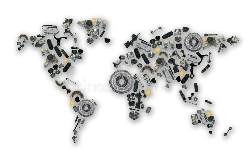 Mappa dei pezzi di ricambio per mercato degli accessori illustrazione di stock