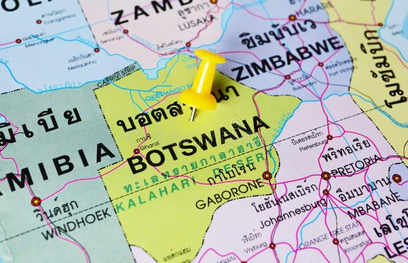 Mappa del Botswana immagine stock libera da diritti