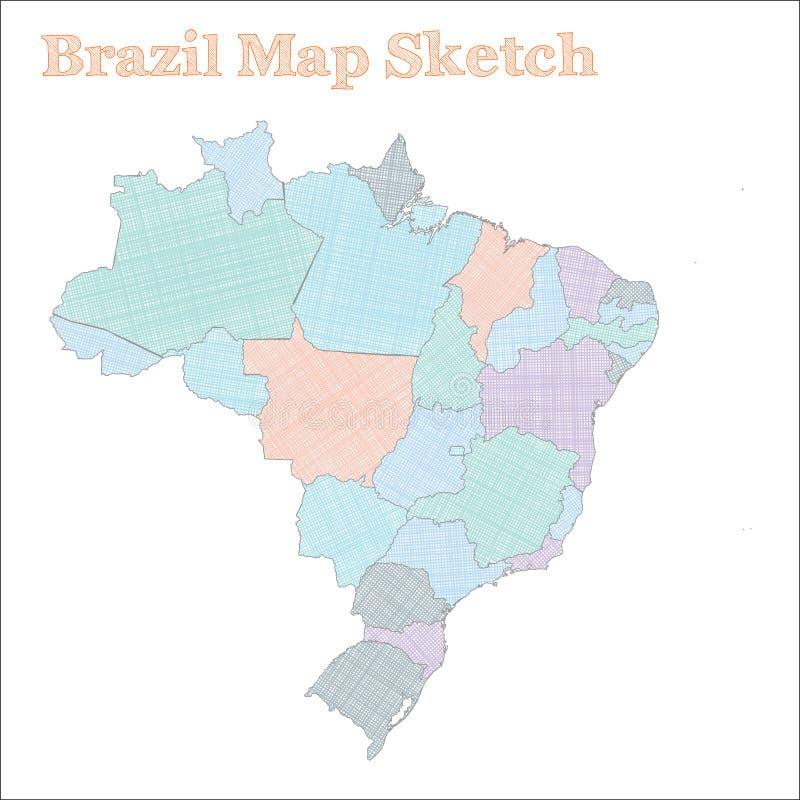 Mappa del Brasile illustrazione vettoriale