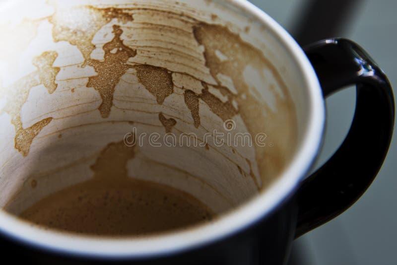 Mappa del caffè sulla mia tazza fotografia stock libera da diritti