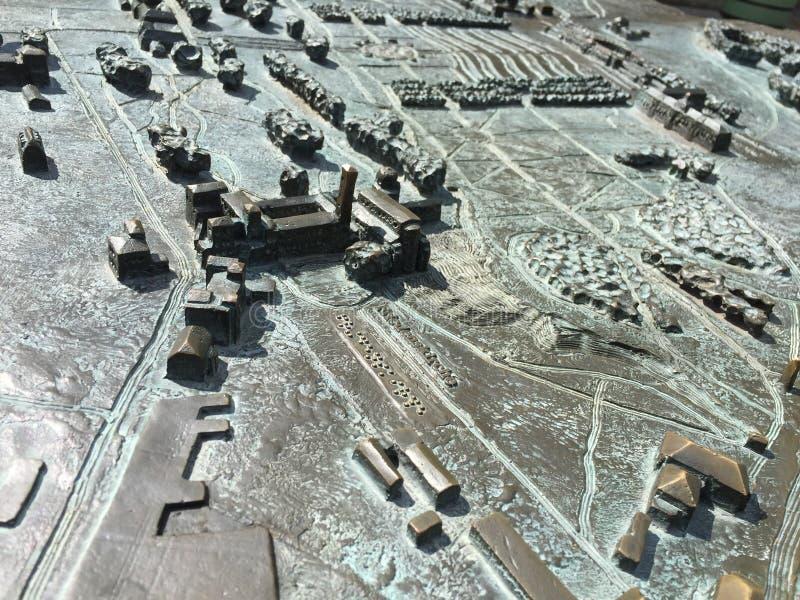 Mappa del castello fotografie stock libere da diritti