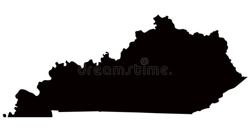 Mappa del Kentucky - stato negli Stati Uniti o America royalty illustrazione gratis