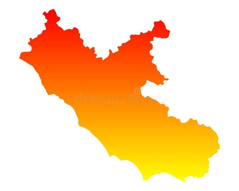 Cartina Lazio.Mappa Del Lazio Illustrazione Vettoriale Illustrazione Di Programma 168422003