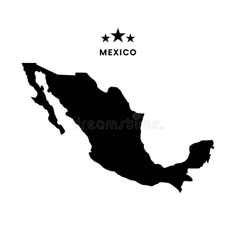 Mappa del Messico Illustrazione di vettore royalty illustrazione gratis