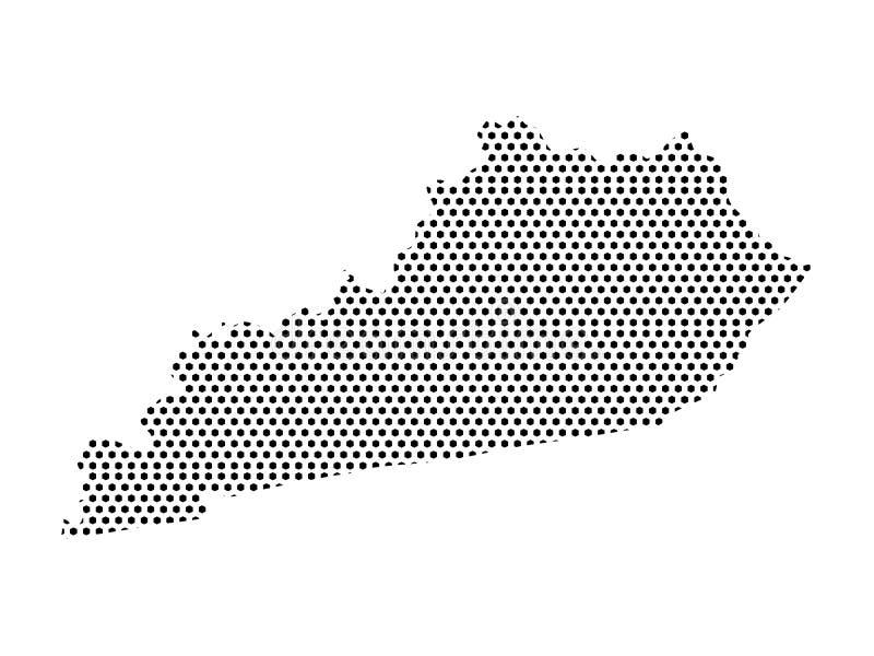 Mappa del modello punteggiato dello stato USA del Kentucky illustrazione vettoriale