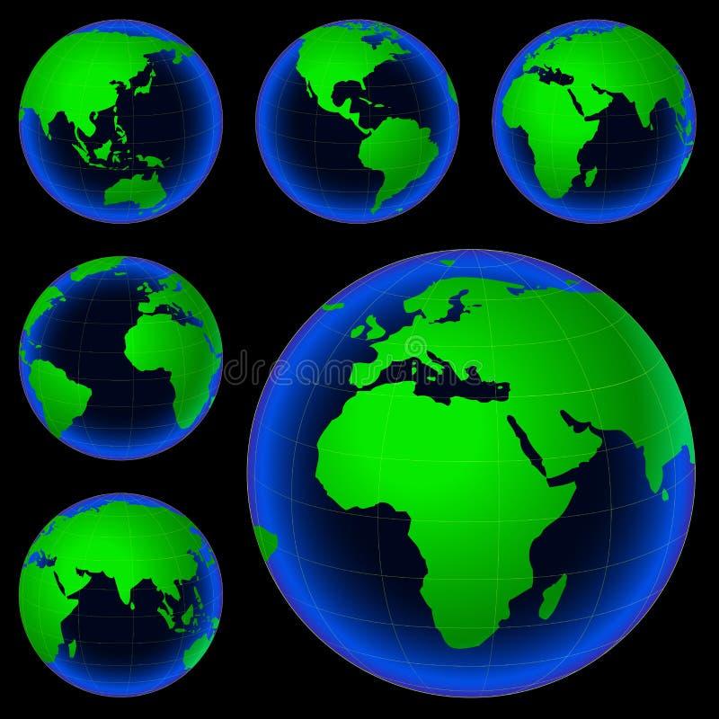 Mappa del pianeta fotografie stock libere da diritti