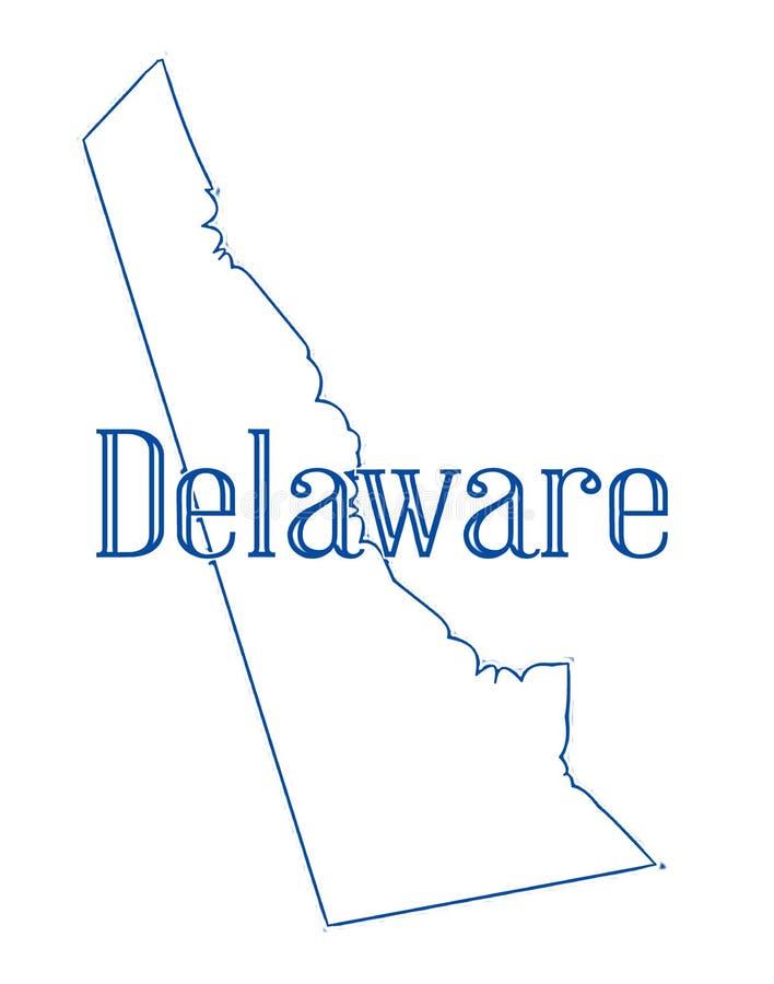 Mappa del profilo dello stato del Delaware illustrazione di stock