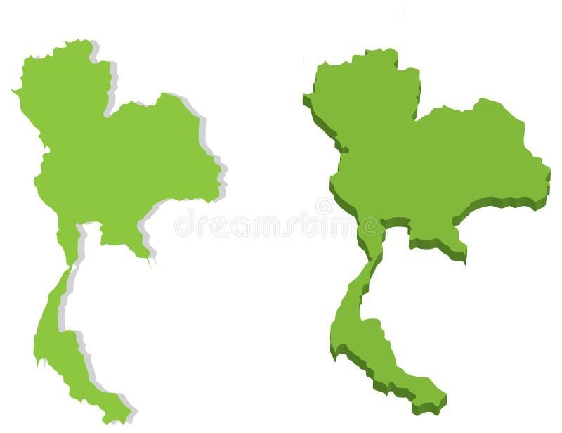 Mappa del regno di Thailandia illustrazione vettoriale