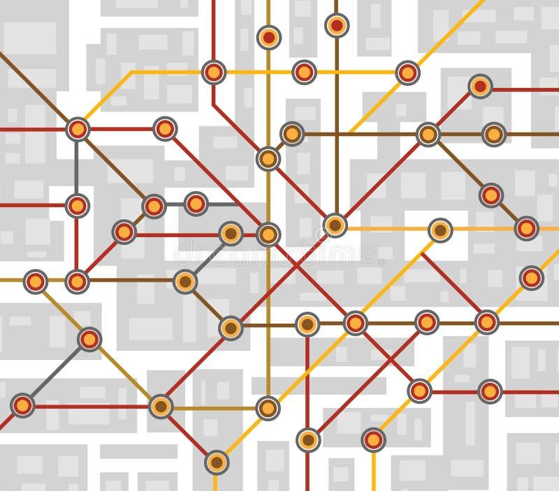 Mappa del sottopassaggio royalty illustrazione gratis