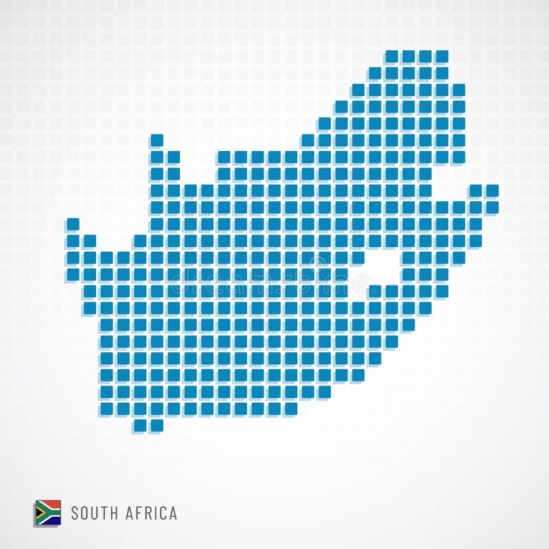 Mappa del Sudafrica ed icona della bandiera royalty illustrazione gratis