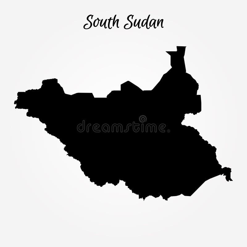 Mappa del Sudan del sud illustrazione vettoriale