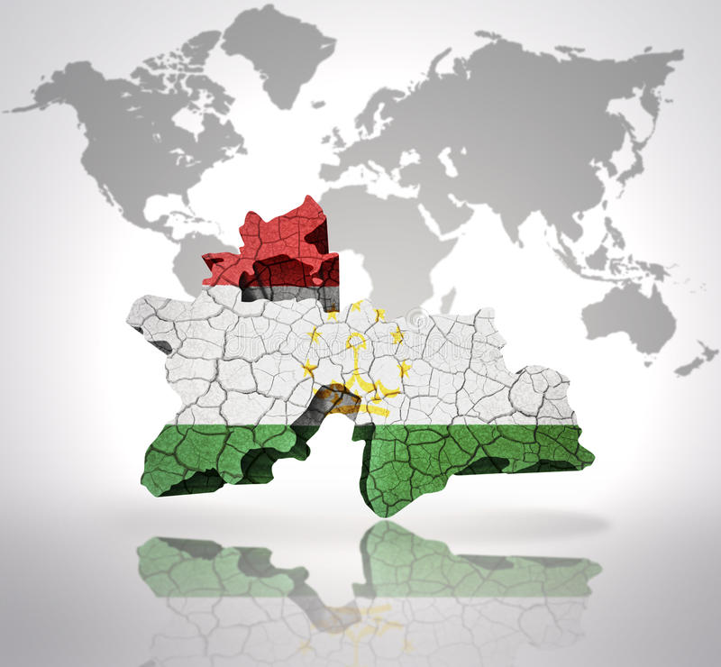 Mappa del Tagikistan royalty illustrazione gratis
