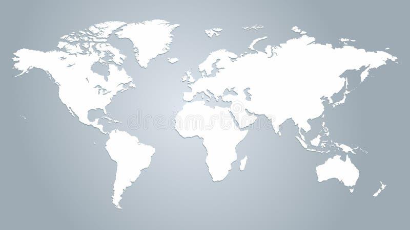 Mappa del vettore del mondo illustrazione vettoriale